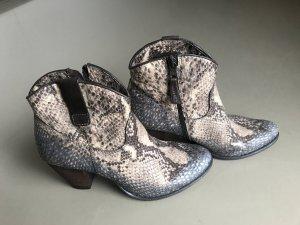 Boots Reptilprägung Mijus