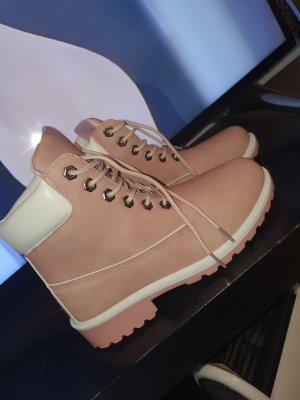 Booties pink leather