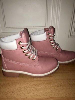 Boots rosa/weiß