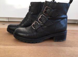 Boots Schnallen Leder Akira