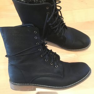 Boots, schwarz, Größe 40, mit Leo Fell