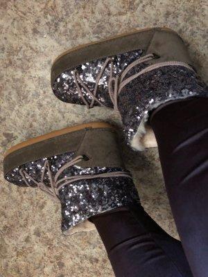 Bottes de neige gris brun-gris