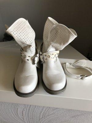 Boots, Sommerboots, Creme- weiß, Größe 37