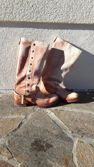 Felmini Wide Calf Boots nude leather