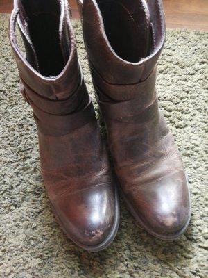 Boots Stiefel Leder 39
