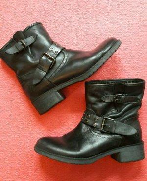 Boots Stiefel Stiefelette hochwertiges Leder *Café Noir* Größe 38
