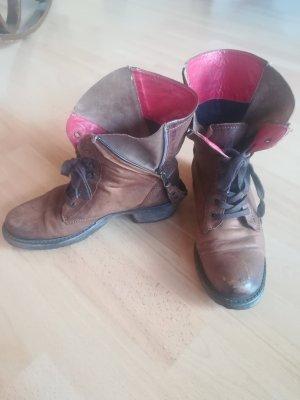 Boots Stiefel Vintage Leder Biker Boots