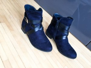 Boots | Stiefel | Wildleder | dunkelblau