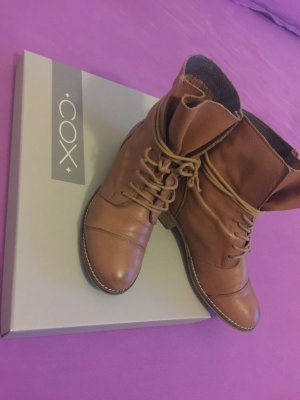 Boots Stiefelette COX gr.37cognac akt.kollektion np99euro