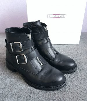 5th Avenue Booties black-silver-colored