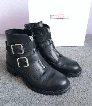 Boots Stiefelette Schwarz 5th Avenue Gr. 39