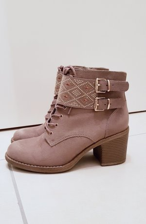 Catwalk Lace-up Booties multicolored