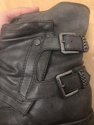 Boots Stiefeletten in grau
