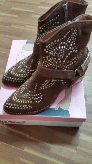 Boots Stiefeletten Jeffrey Campbell Stiefel Cowboy-Boots Ethno braun Gr. 41