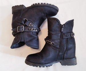 Boots Stiefeletten mit verstecktem Absatz Gr. 38