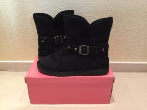 Rue Princesse Snow Boots black imitation leather