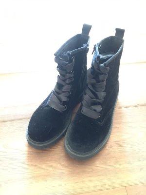 Boots Stiefeletten wie Martens 36 aus samt