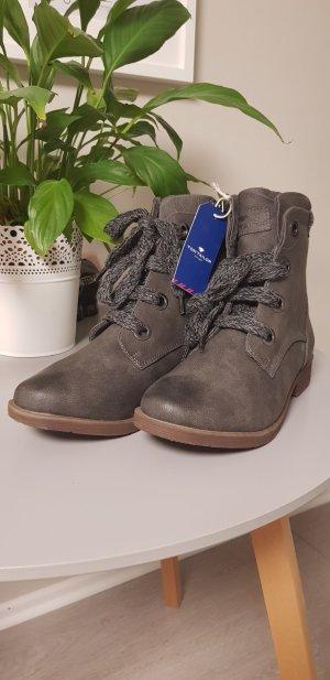 Tom Tailor Botas gris-marrón grisáceo