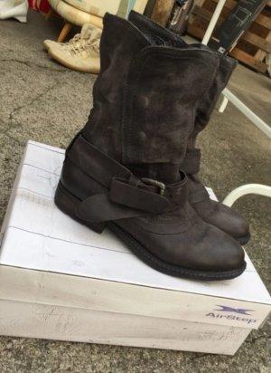 Air Step Stivale grigio scuro-marrone-nero