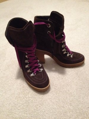 Boots black brown-purple
