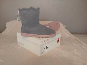 the latest 07366 b5e21 Esprit Snow Boots grey suede