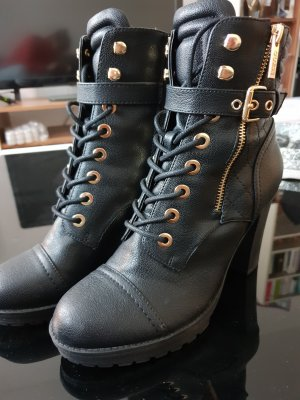 Guess Bottines à lacets noir