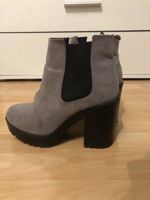H&M Divided Low boot gris-noir