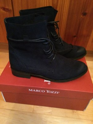 Boots von Marco Tozzi, Gr. 38, dunkelblau, ungetragen