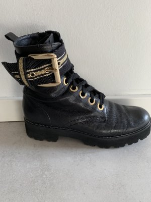 Maripé Desert Boots black-gold-colored leather