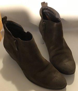 Paul Green Low boot gris brun daim