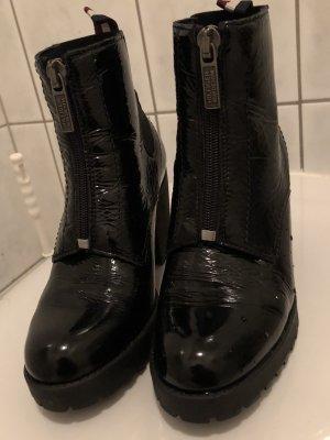 Tommy Hilfiger Denim Booties black leather