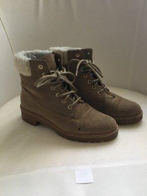 Zara Lace-up Boots beige