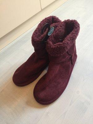 Boots Weinrot Neu bequem