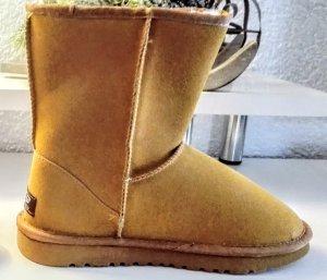Boots Winter Neu Caramel Braun 38