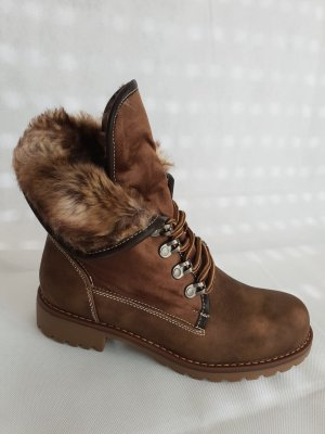 Boots brown imitation leather