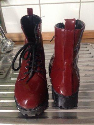 Boots   Winterschuhe   Stiefel   Schnürstiefel   Lack   Hipster   Blogger