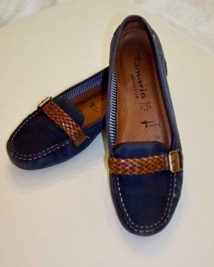 Tamaris Mocassins bleu foncé-brun cuir