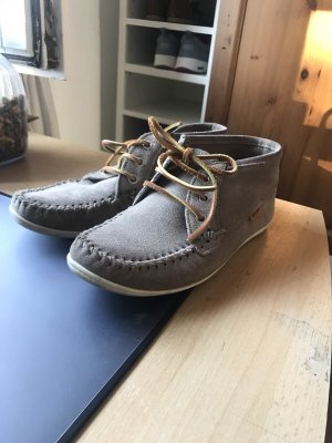 Mocassins marron clair-beige daim