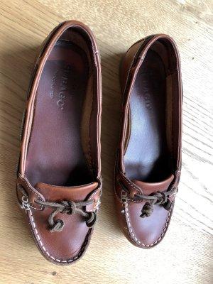 Sebago Moccasins brown-cognac-coloured leather