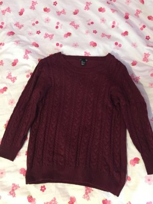 Bordaux roter Pullover