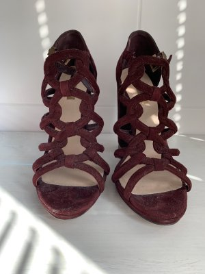 Bordeaux farbende Wildleder Pumps