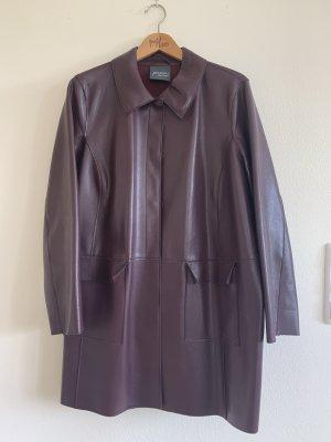 Bordeaux-farbene Jacke aus Kunstleder von Persona by Marina Rinaldi