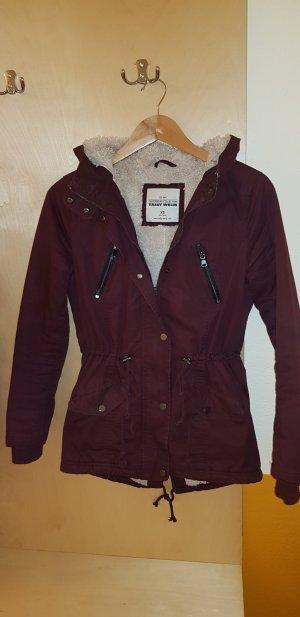 Bordeaux Farbene Jacke XS