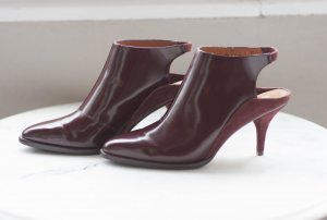 bordeaux farbene Slingbacks von Other Stories