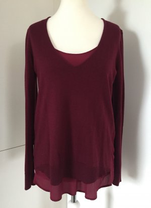 Bordeaux-farbener Pullover im Layering-Look, Gr. XL - von Comptoirs des Cotonniers