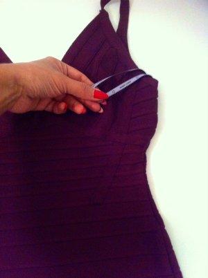 Bordeaux farbenes figurbetontes Kleid von herve leger in xs