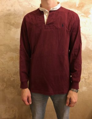 bordeaux-farbenes Polo Ralph Lauren Shirt