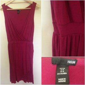 bordeaux-farbiges H&M Kleid