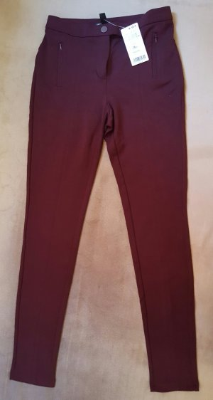 Mango Jeggings bordeaux