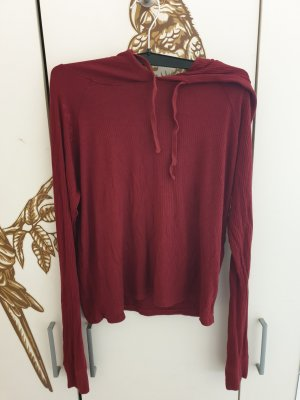 FB Sister Hooded Shirt bordeaux mixture fibre